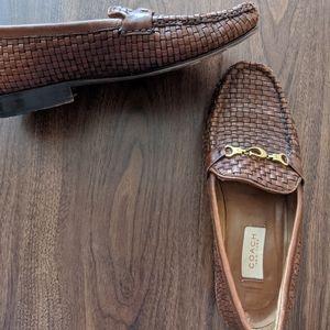 Coach Basket-weave Leather Loafer / Flat